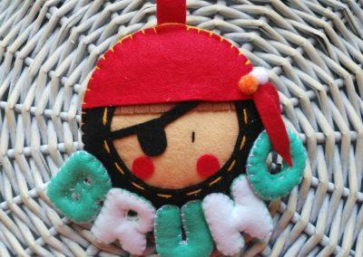 Nombre para habitación infantil - Pirata
