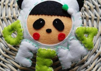 Nombre para habitación infantil - Panda